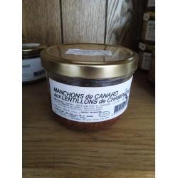 Canard Manchons aux Lentillons