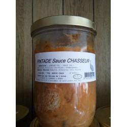 Pintade sauce chasseur